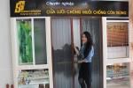 Cửa lưới chống muỗi xếp có ray, cửa lưới chống muỗi