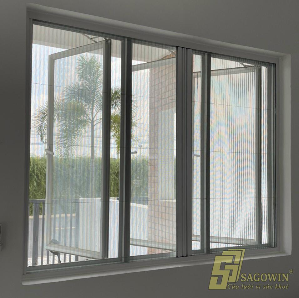 cửa lưới xếp chống muỗi, cửa sổ