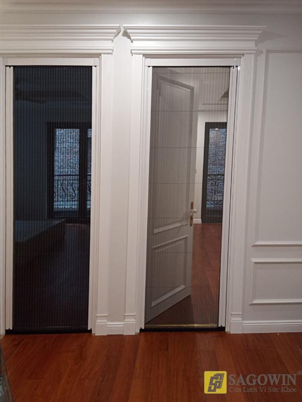 Cửa lưới xếp xích không ray một cánh hệ 40 (cửa đi, cửa sổ)