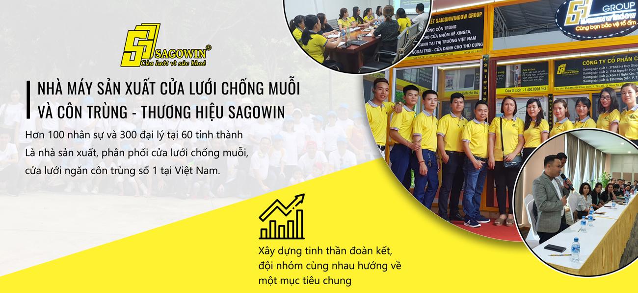 Hình ảnh đội ngũ nhân viên Cửa Lưới Sài Gòn Sagowin
