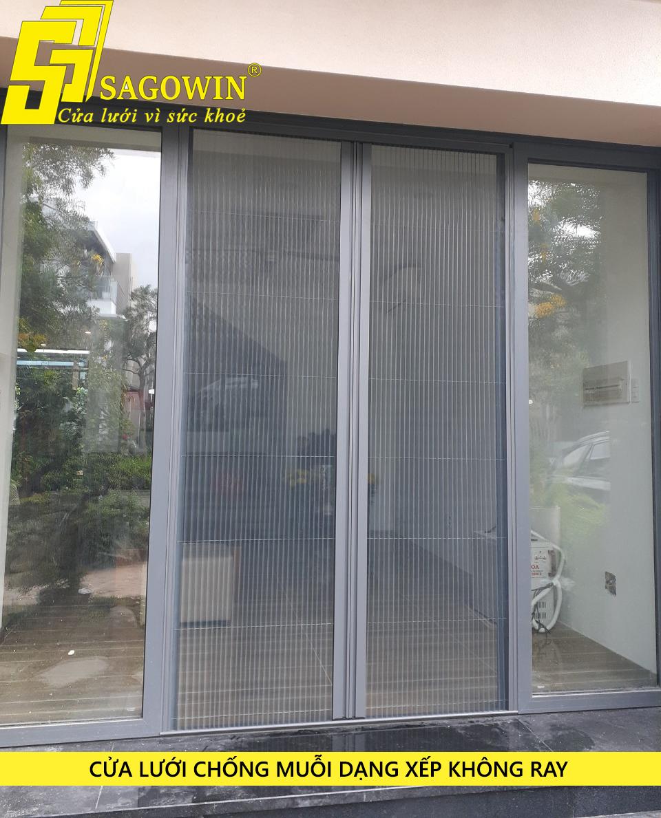 Cửa lưới chống muỗi dạng xếp thương hiệu Sagowin