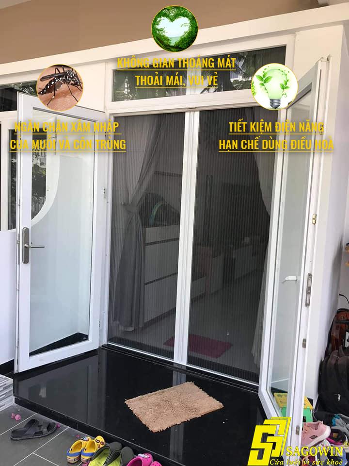 Cửa lưới chống muỗi xếp có ray