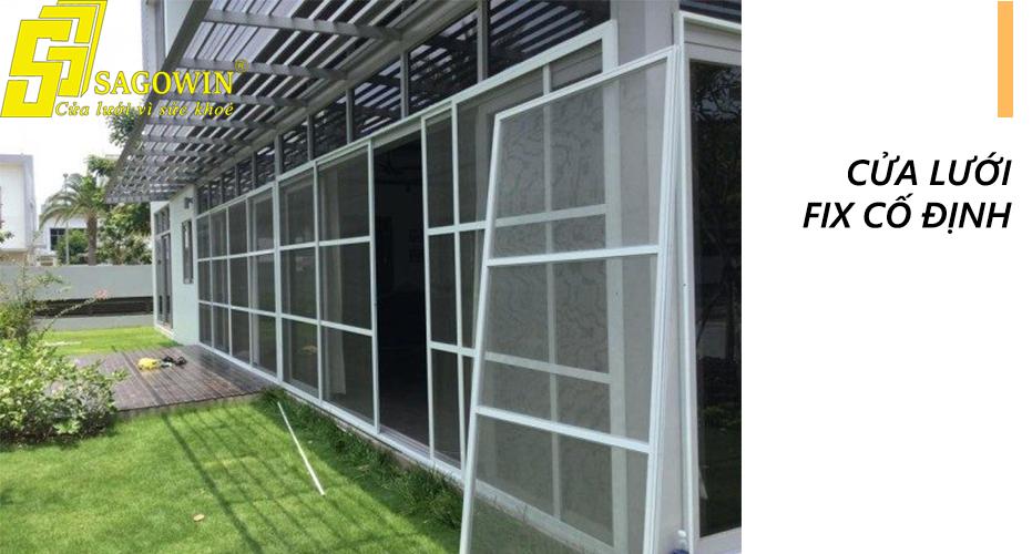 Cửa lưới chống muỗi fix cố định