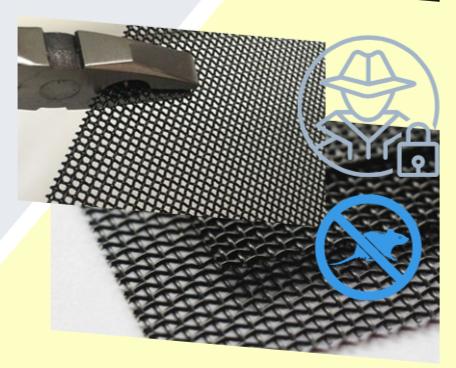 Lưới inox của cửa lưới chống muỗi có độ dày 0.8mm