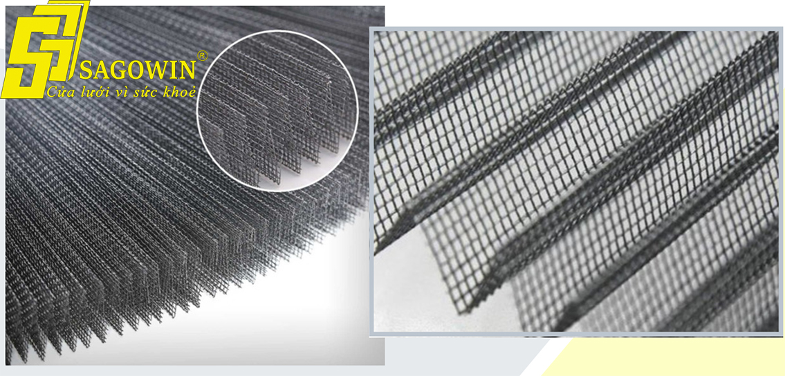 Lưới của cửa lưới chống muỗi được làm từ sợi polyme mềm dẻo