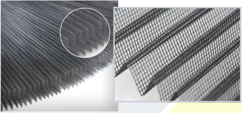 Lưới xếp được làm bằng sợi polyme