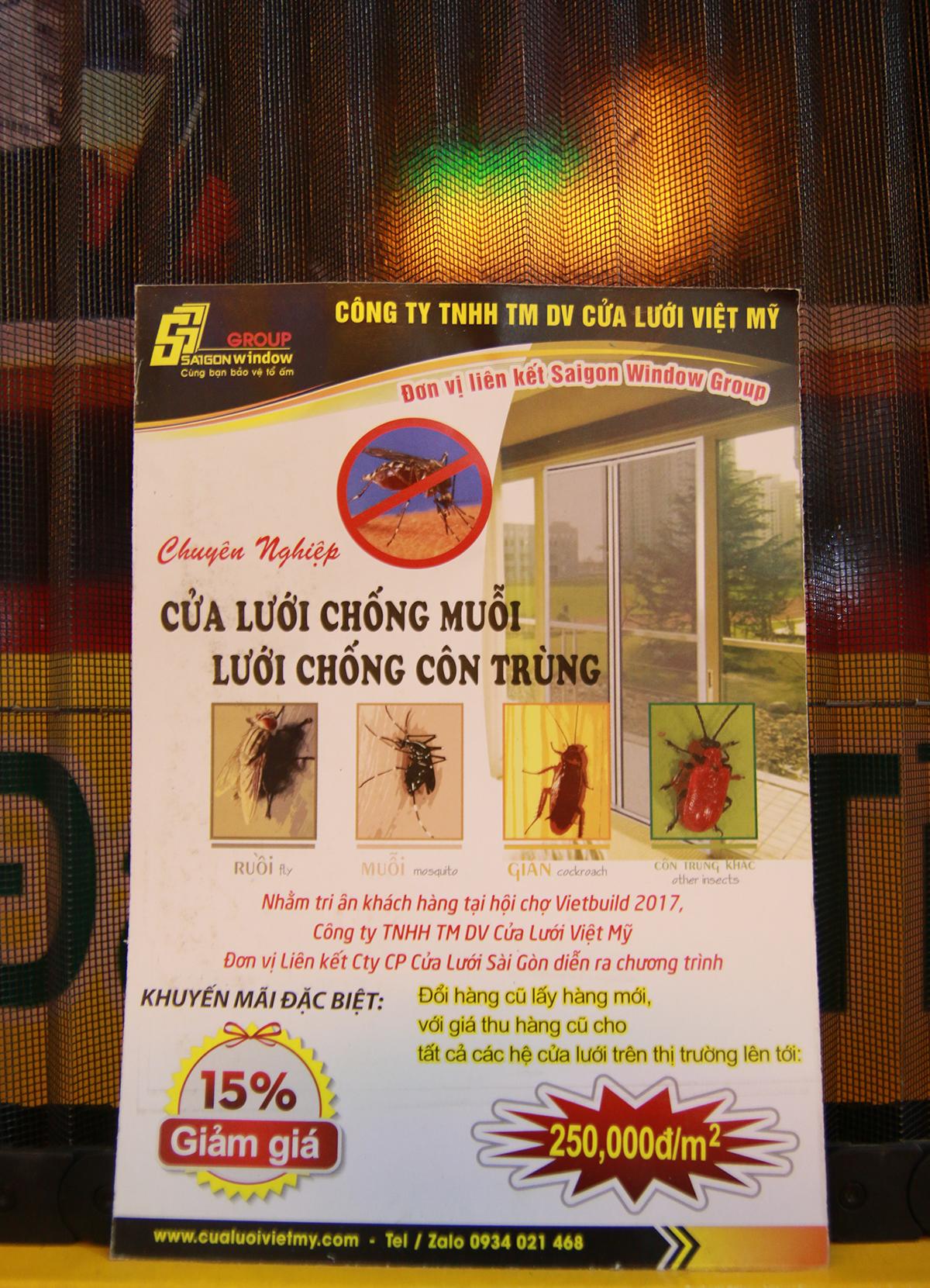 đổi cửa lưới chống muỗi mới chỉ với 250k/m2